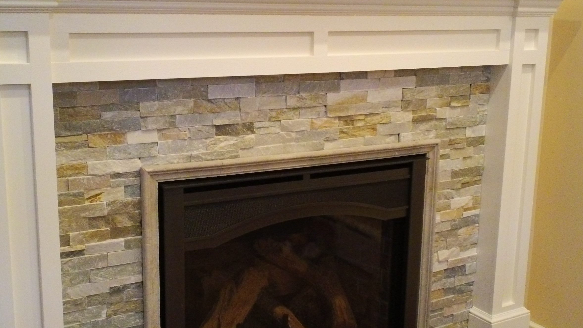 Custom Stone Fireplace In Small Addition In Dumont Nj Msk Sons Construction