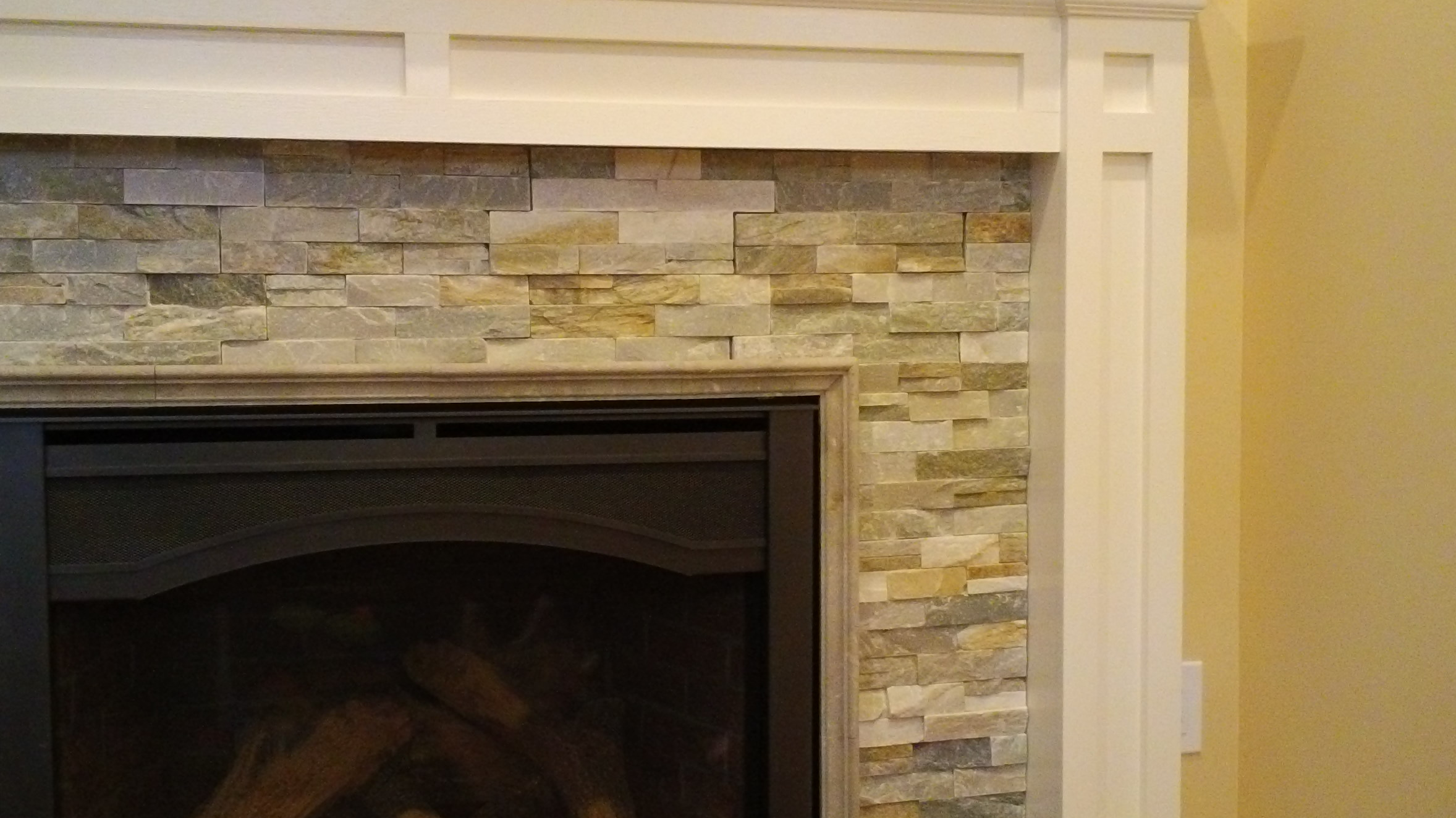 custom stone fireplace in small addition in dumont nj msk u0026 sons