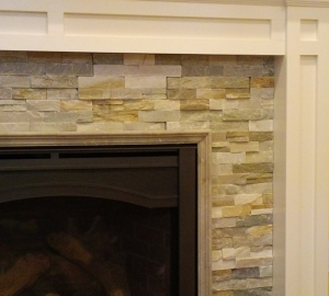 Stone Fireplace with Mantel in Dumont