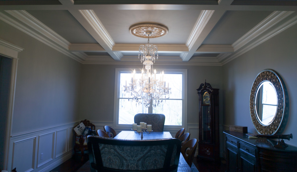 Custom Coffered Ceiling Hearthstone Dining