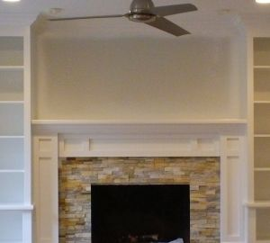 Built In Book Cases and Mantel in Kinnelon NJ